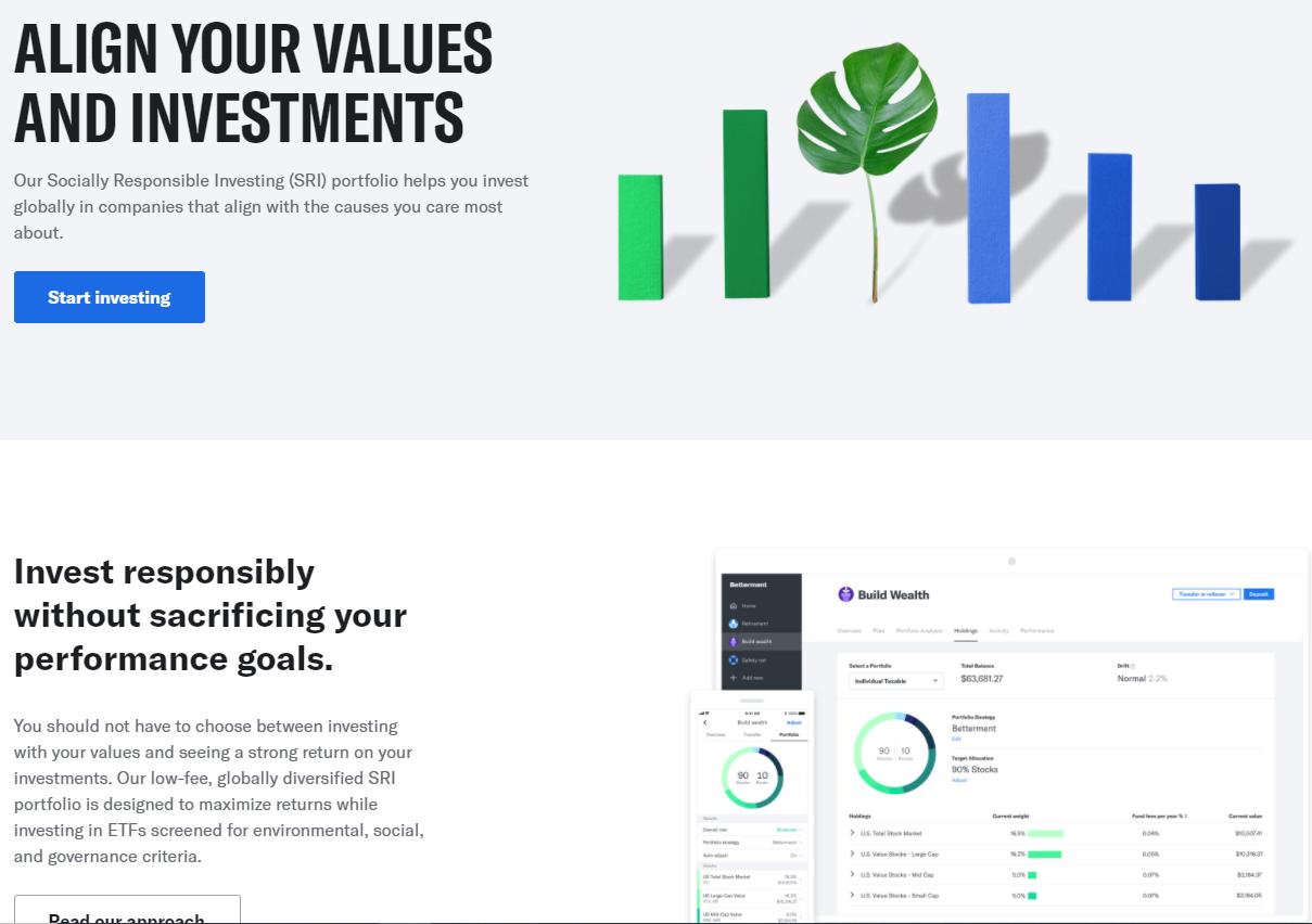 ESG investing - Betterment