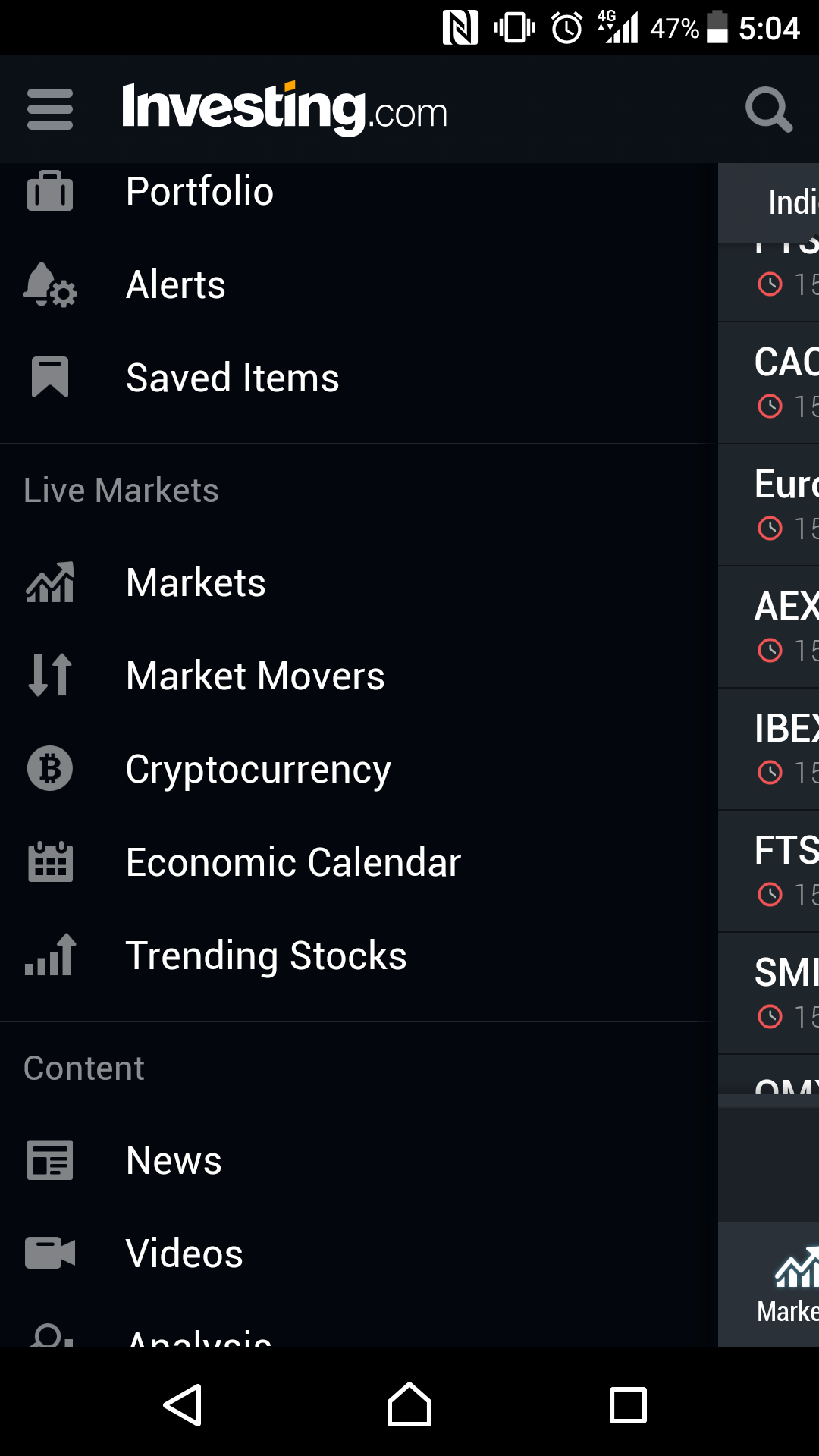 Best-trading-apps-Investing.com-menu