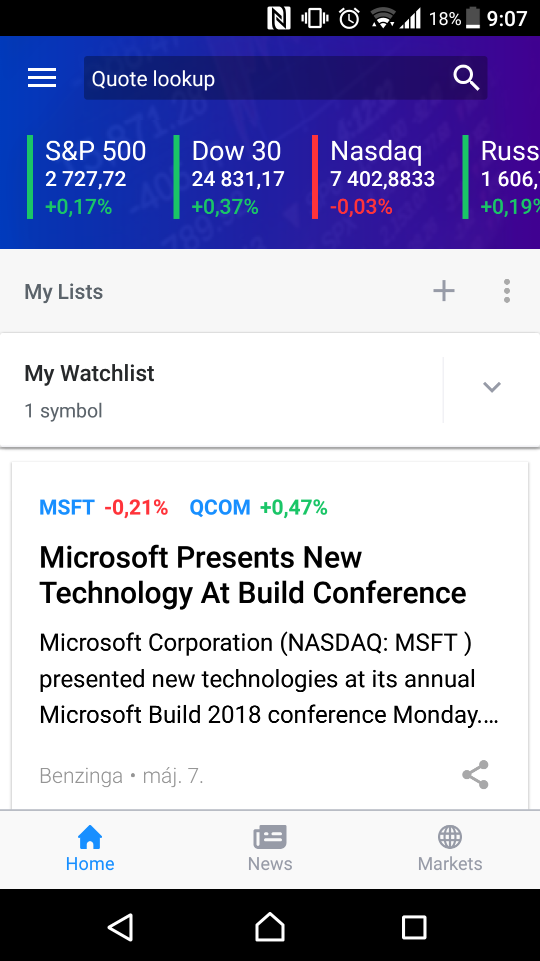 Best-trading-apps-Yahoo!Finance-main-page