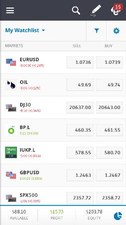 Best trading apps - Etoro - Mobile trading platform