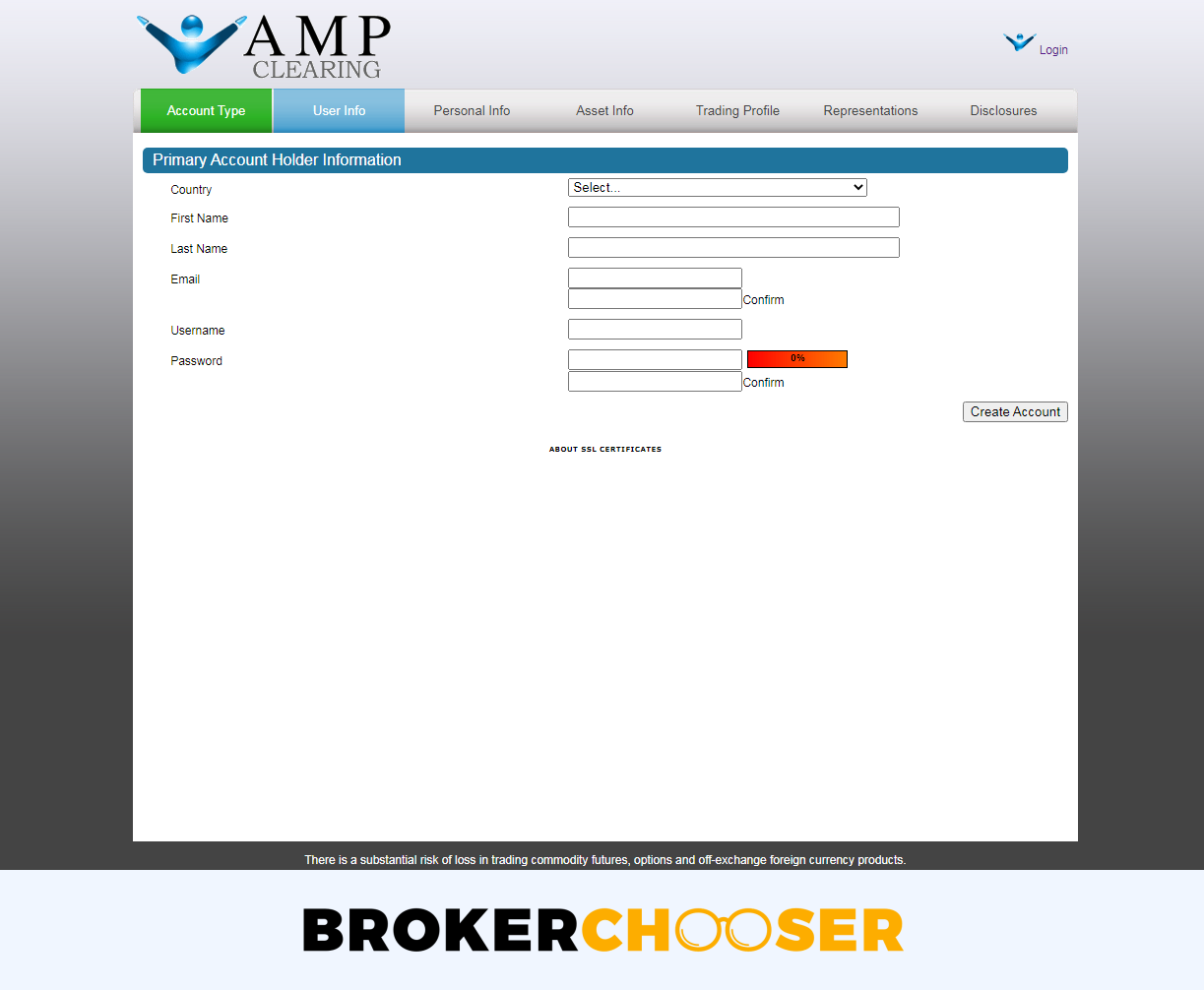 AMP Futures review - Account opening