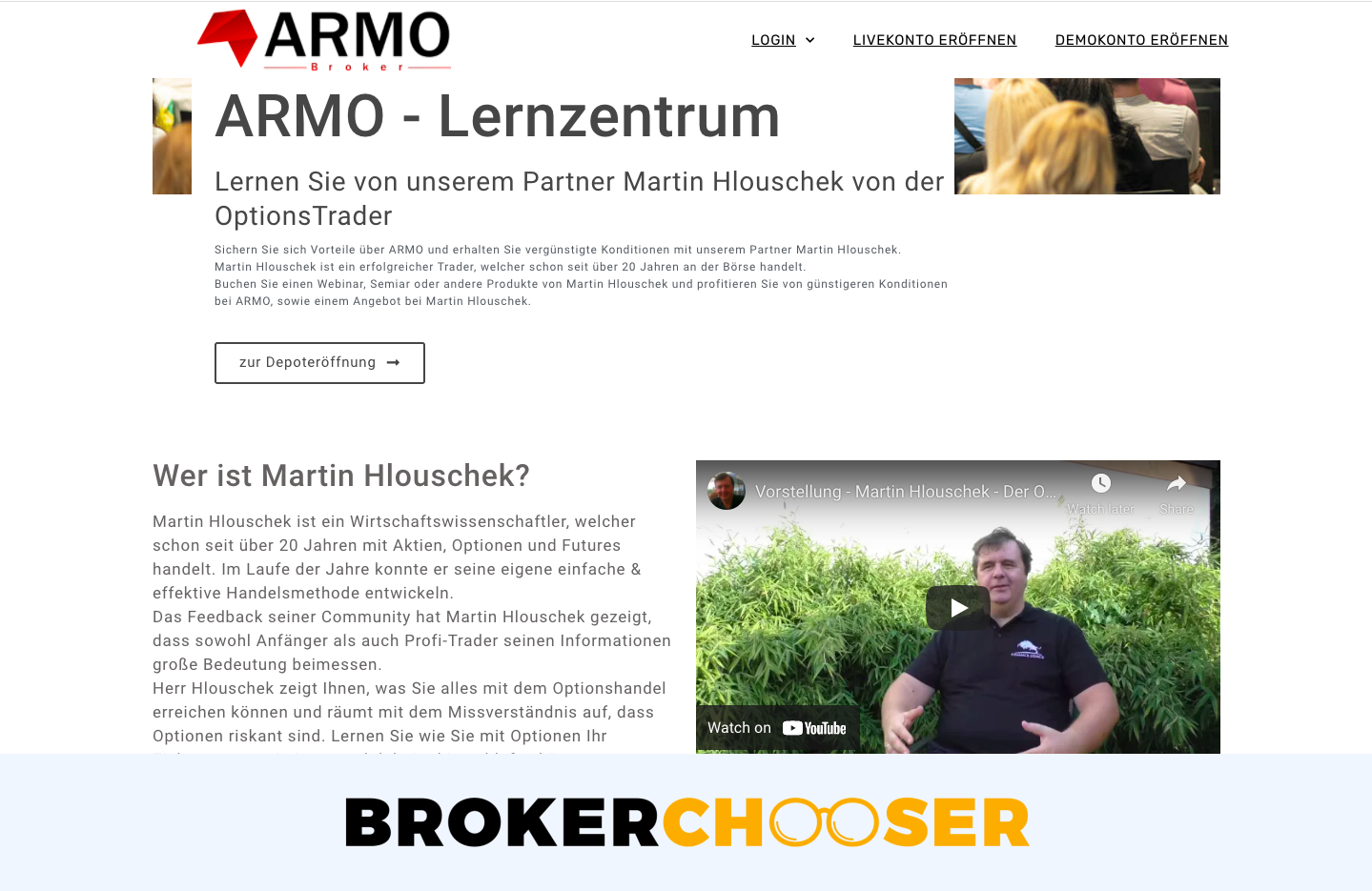 ARMO Broker review - Education