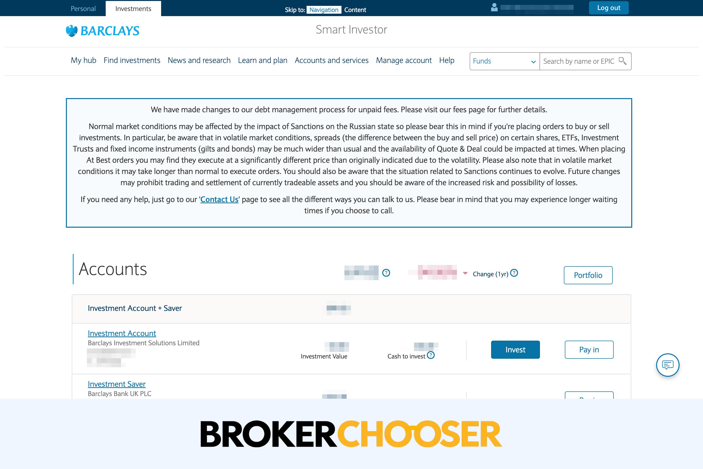 Barclays review - Web trading platform