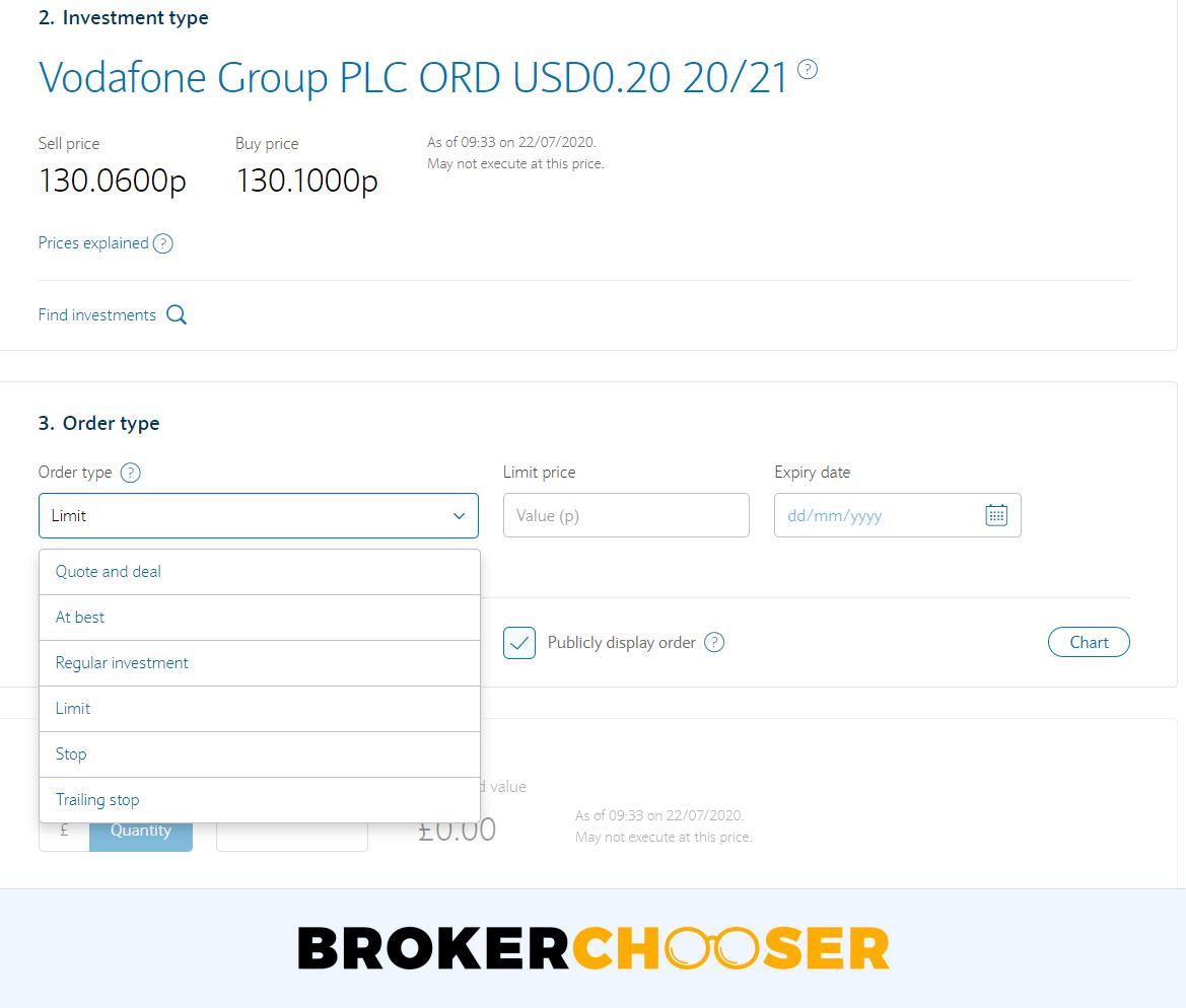 Barclays review - Web trading platform - Order panel