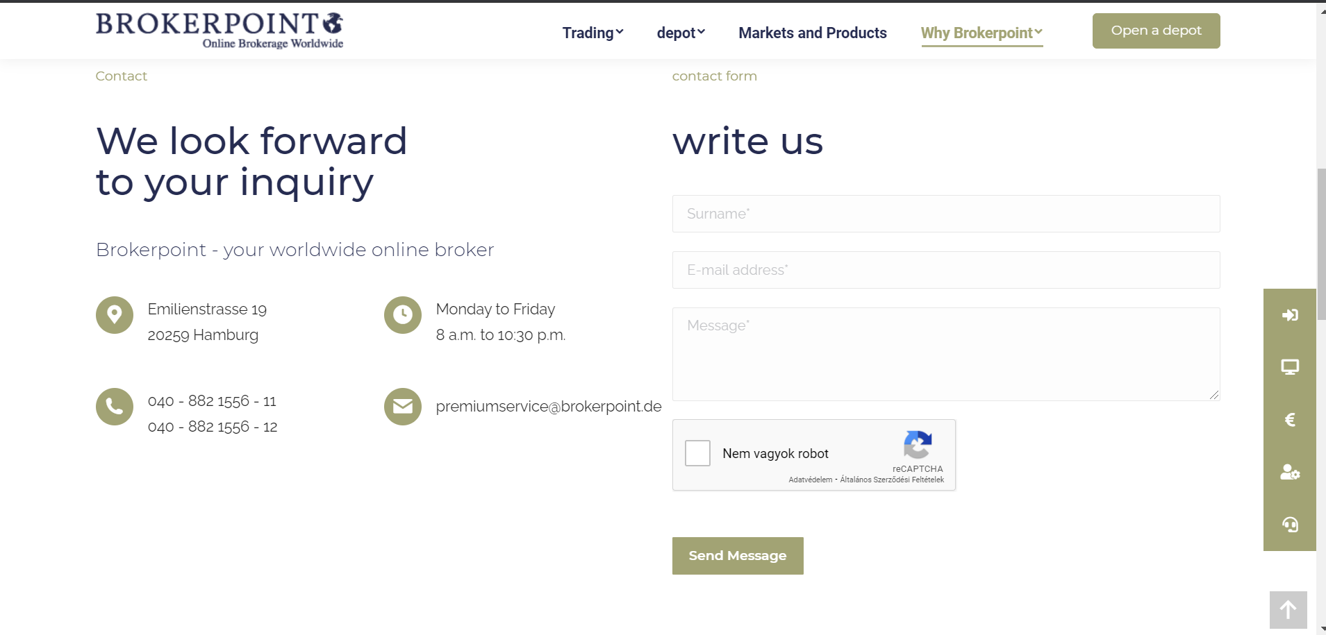 Brokerpoint review - Customer Service