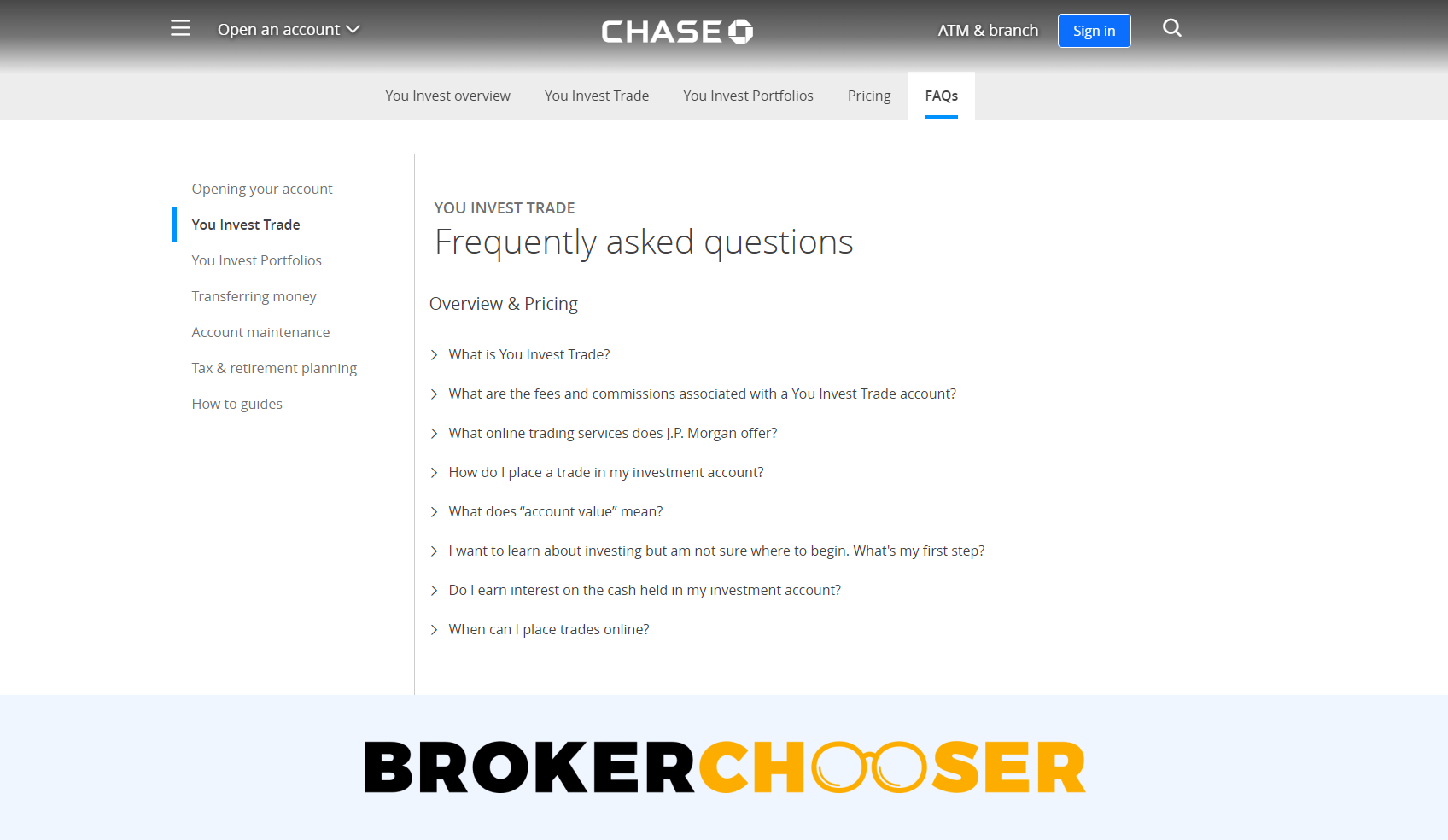 Chase You Invest review - Customer Service