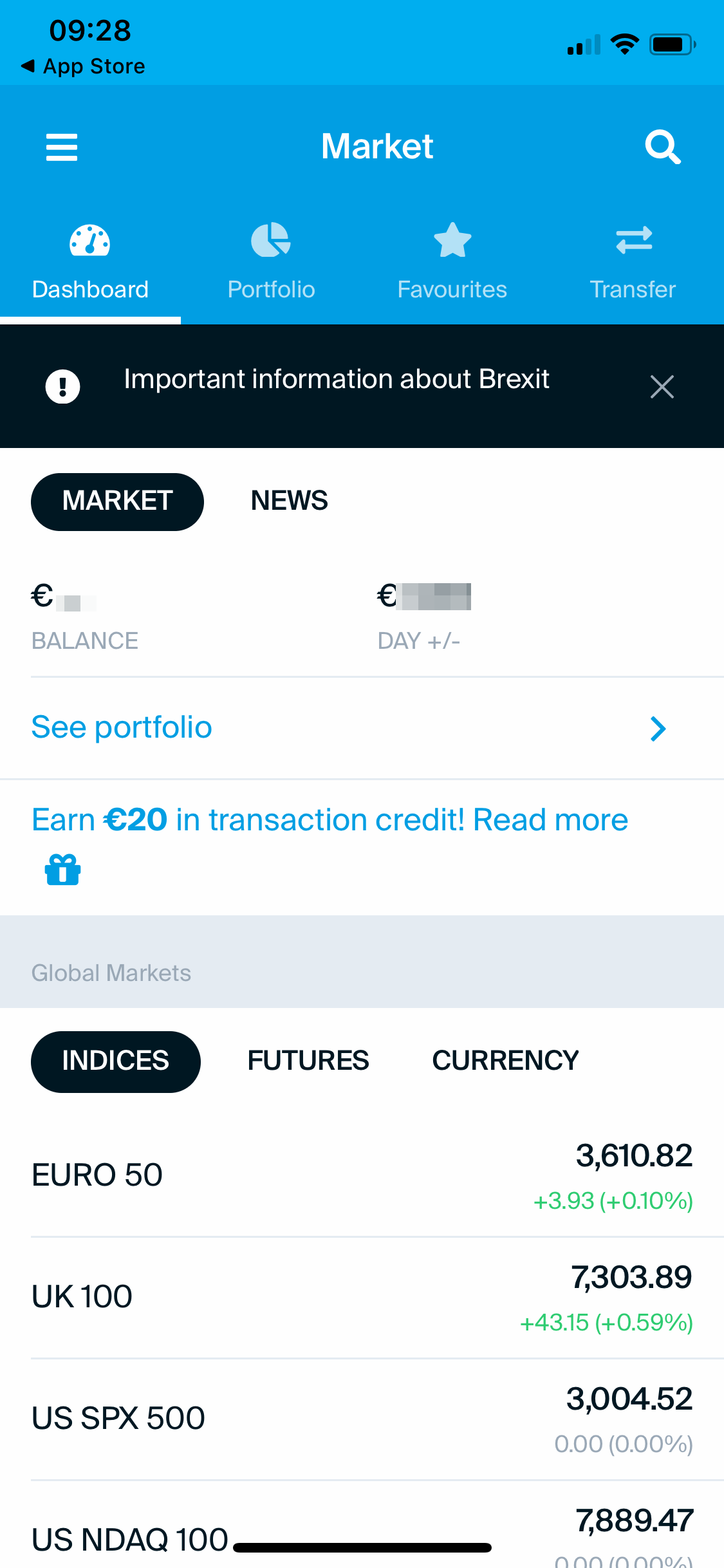 DEGIRO review - Mobile trading platform