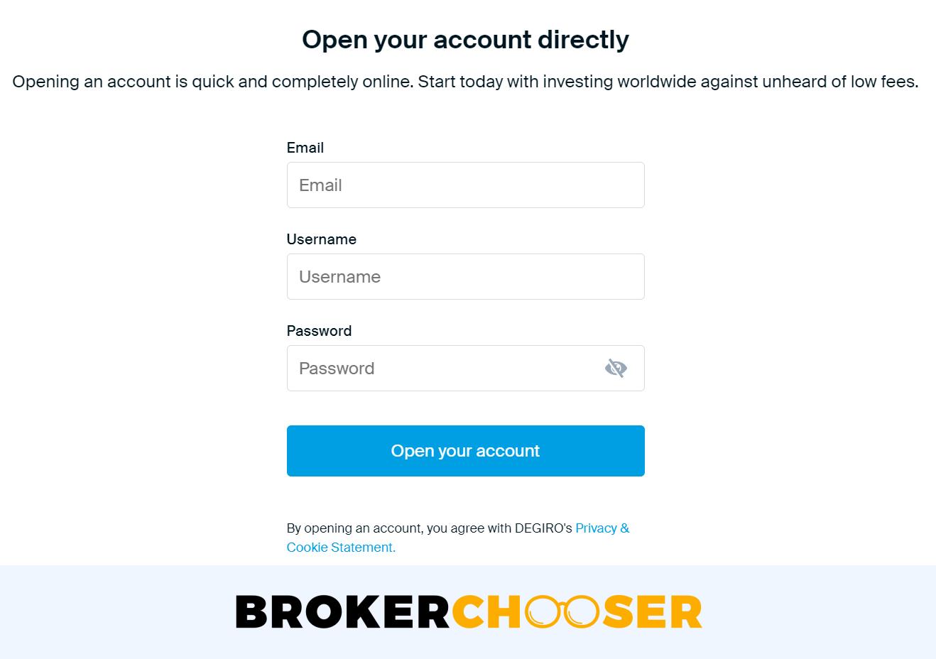 Can I have two DEGIRO accounts? - Account opening