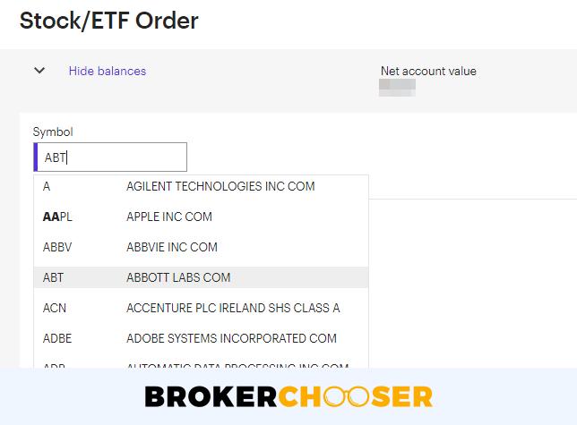 E*TRADE review - Web trading platform - Search