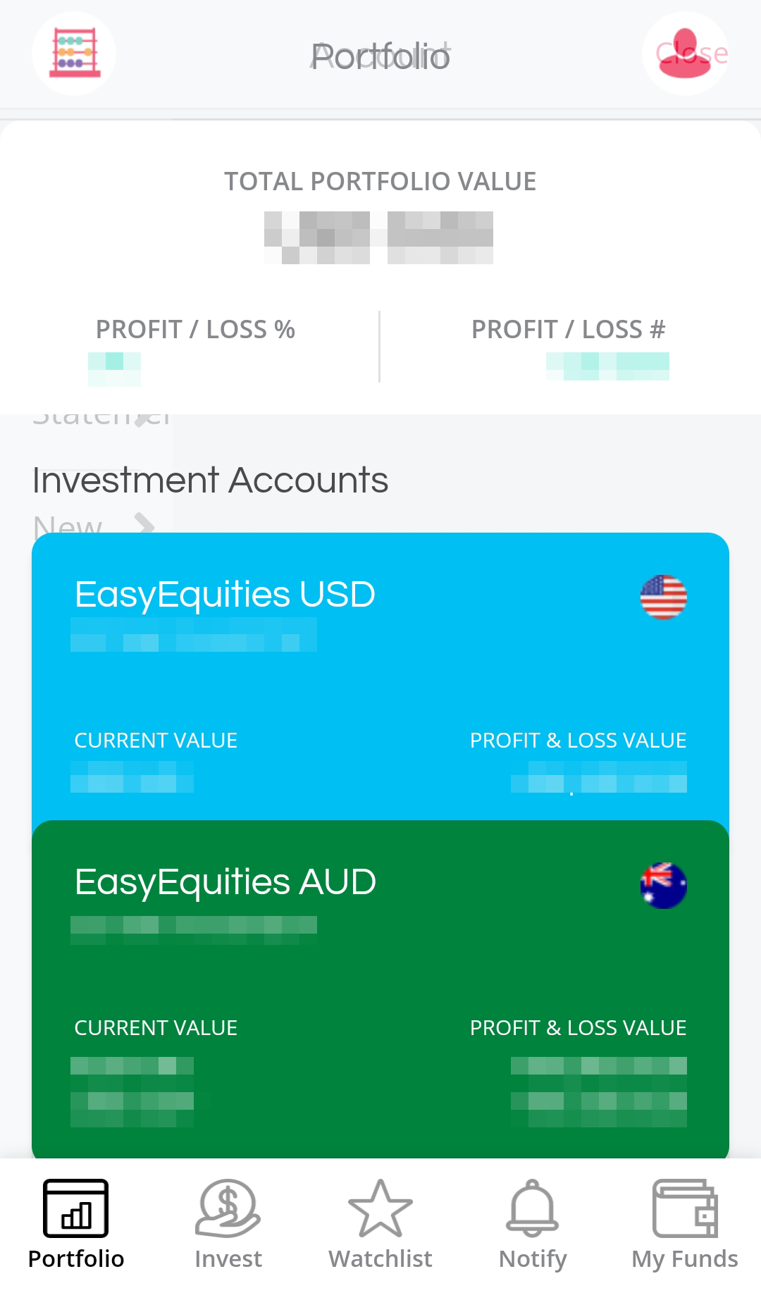 EasyEquities review - Mobile trading platform