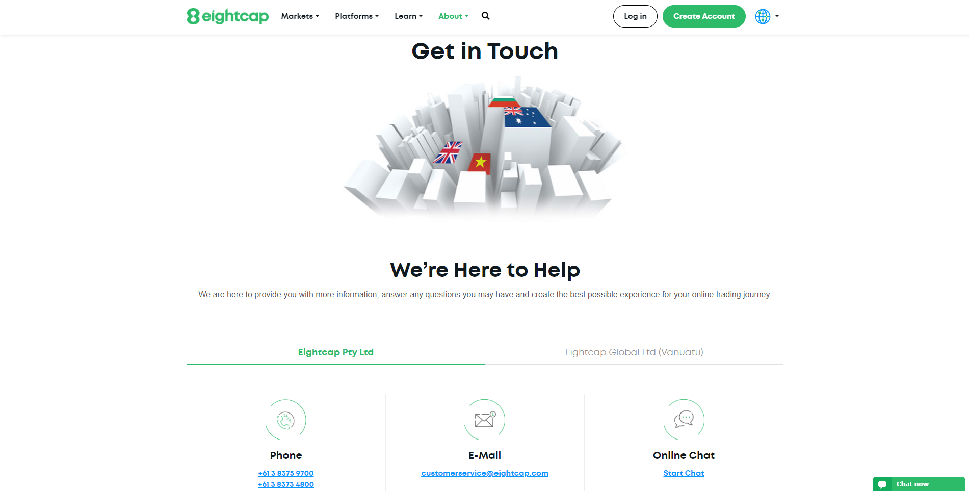 Eightcap review - Customer Service