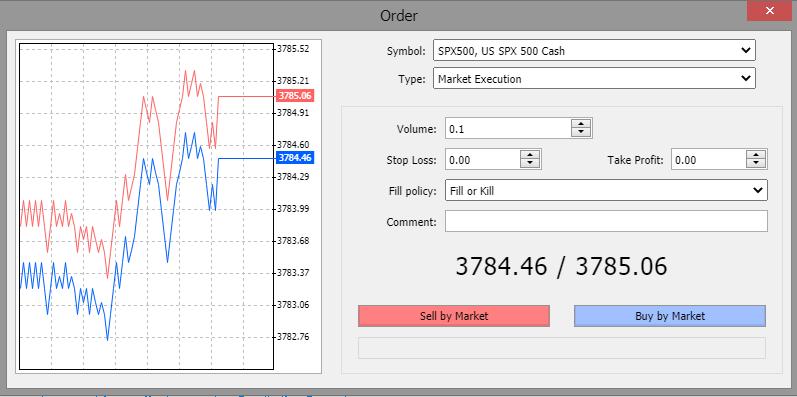Eightcap review - Web trading platform - Order panel
