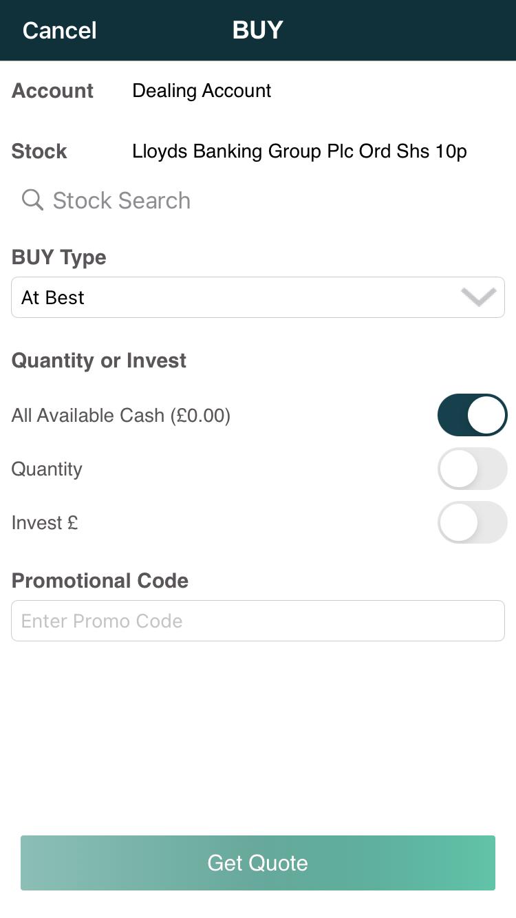 EQi review - Mobile trading platform - Order panel