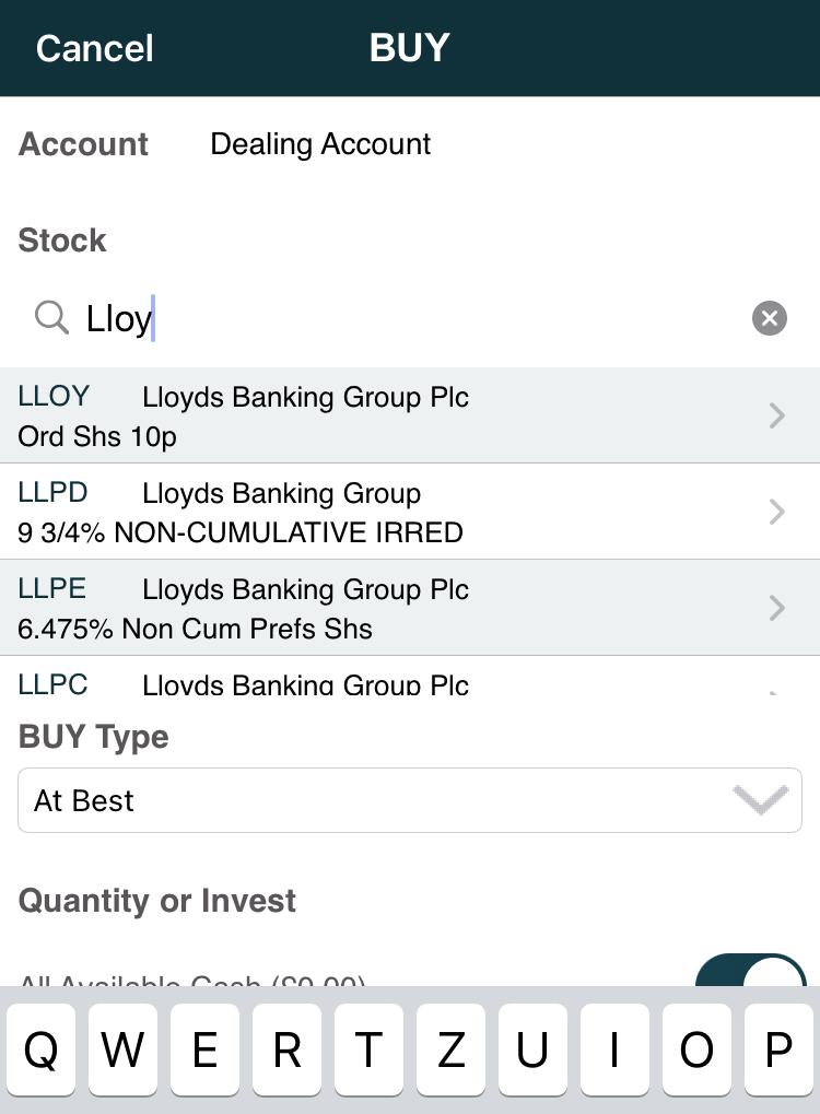 EQi review - Mobile trading platform - Search