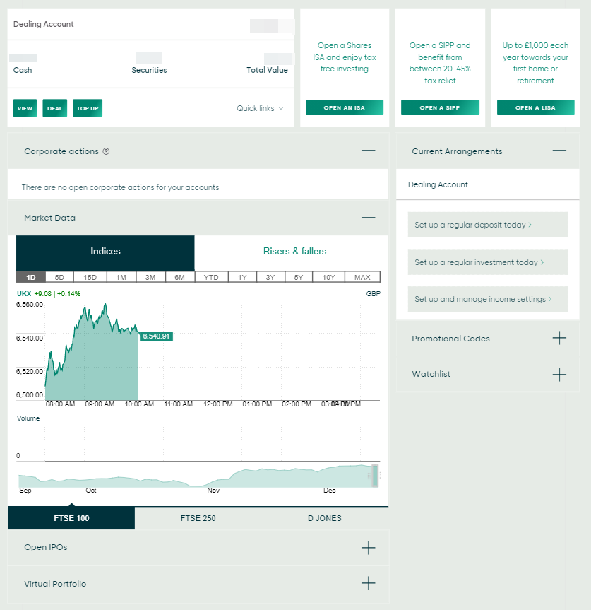 EQi review - Web trading platform