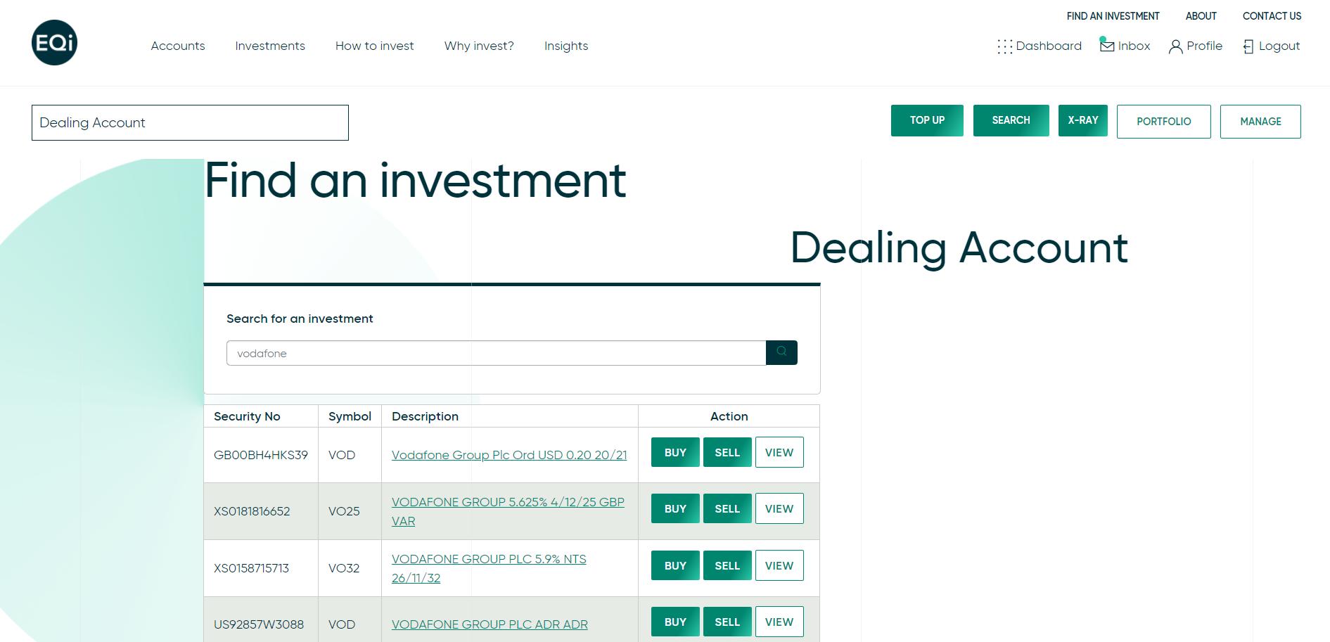 EQi review - Web trading platform - Search