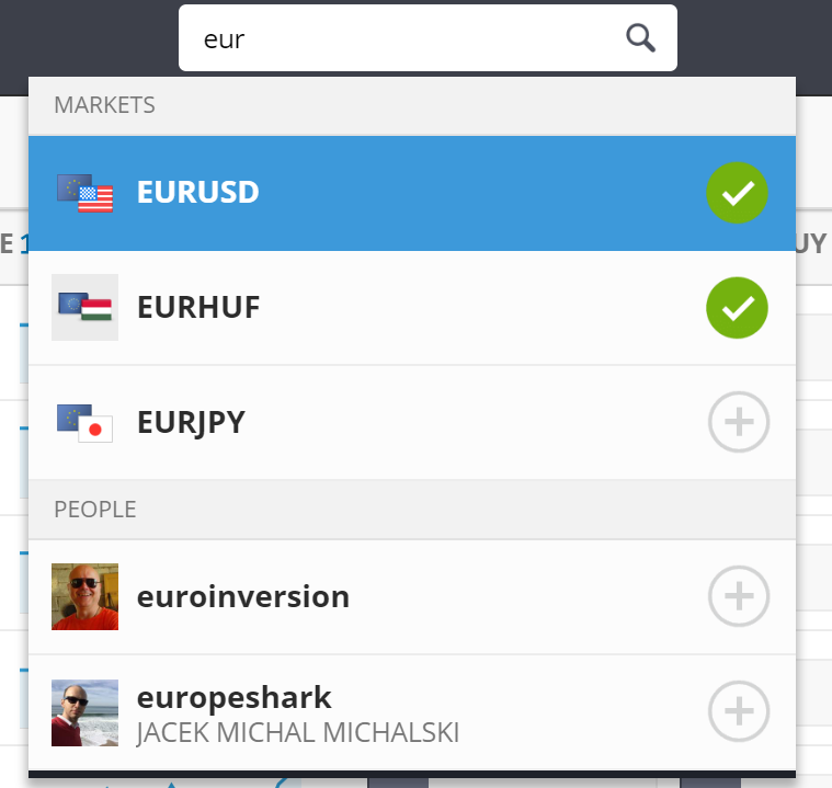 Etoro review - Web trading platform - Search