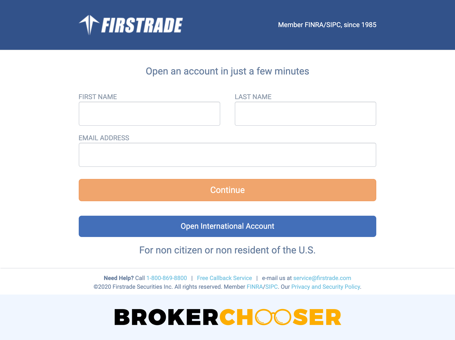 Firstrade review - Account opening
