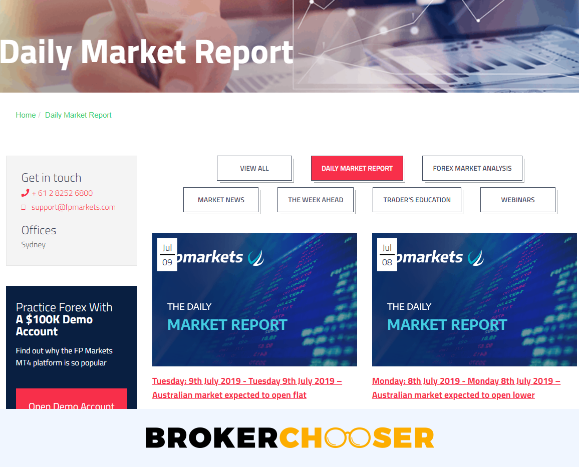 FP Markets review - Research - Daily Market Report