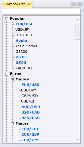 FXCM review - Desktop trading platform - Search