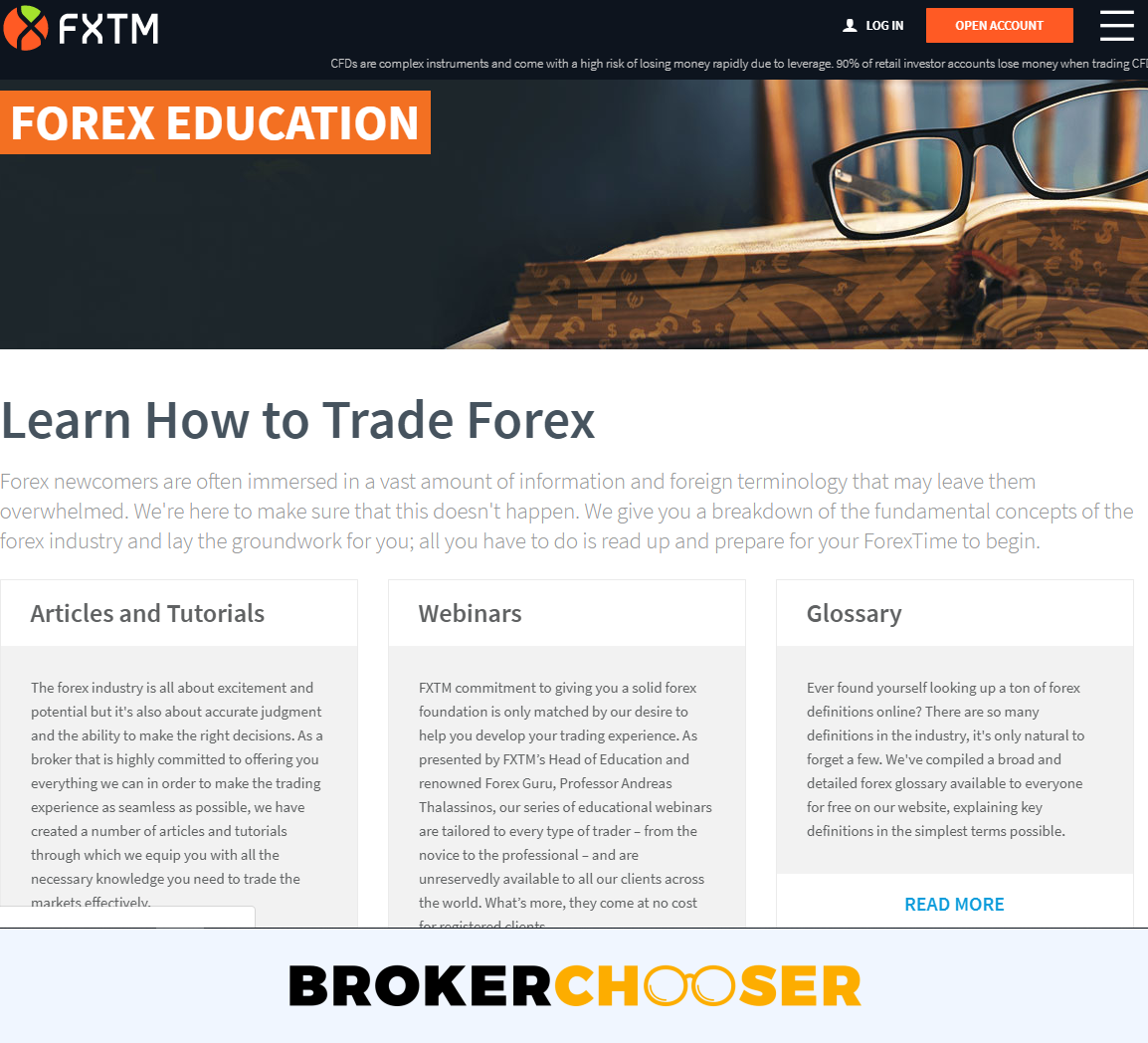 FXTM review - Education
