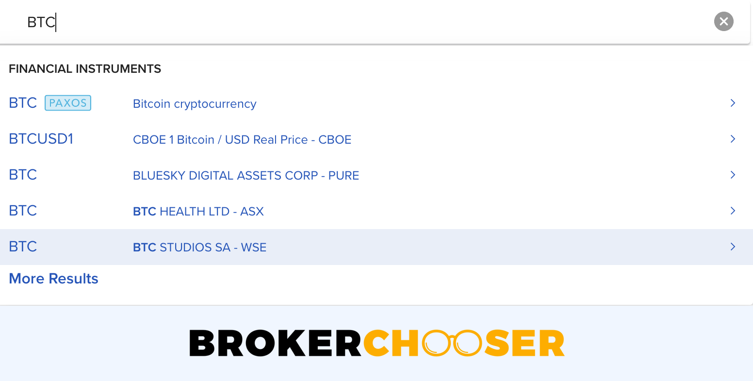 Can you buy Bitcoin on Interactive Brokers - Symbol search bar