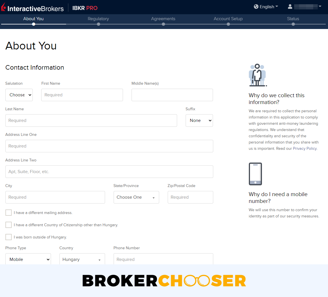 Interactive Brokers review - Account opening