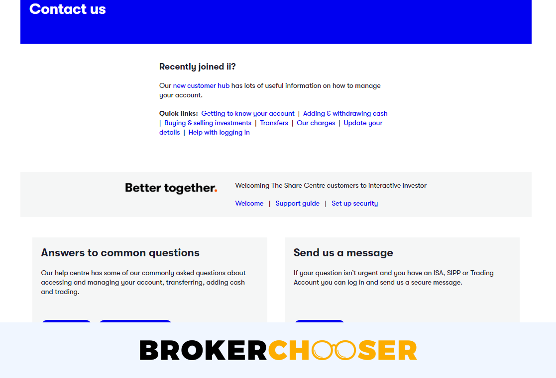 Interactive Investor review - Customer Service