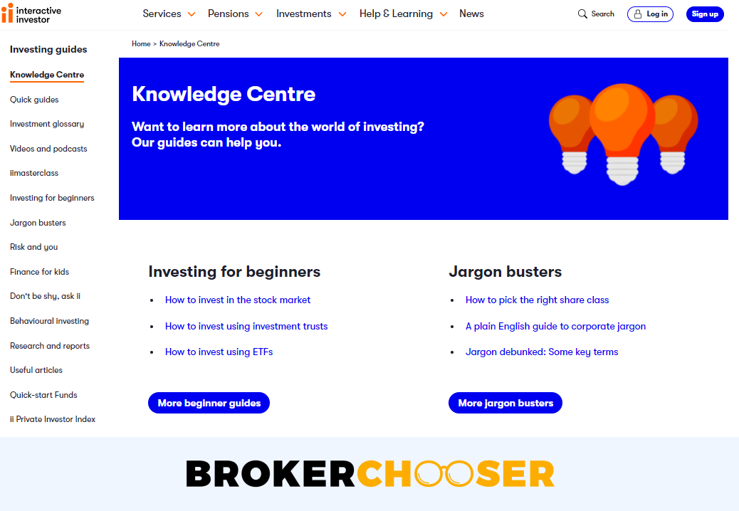 Interactive Investor review - Education