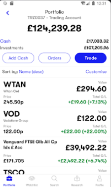 Interactive Investor review - Mobile trading platform