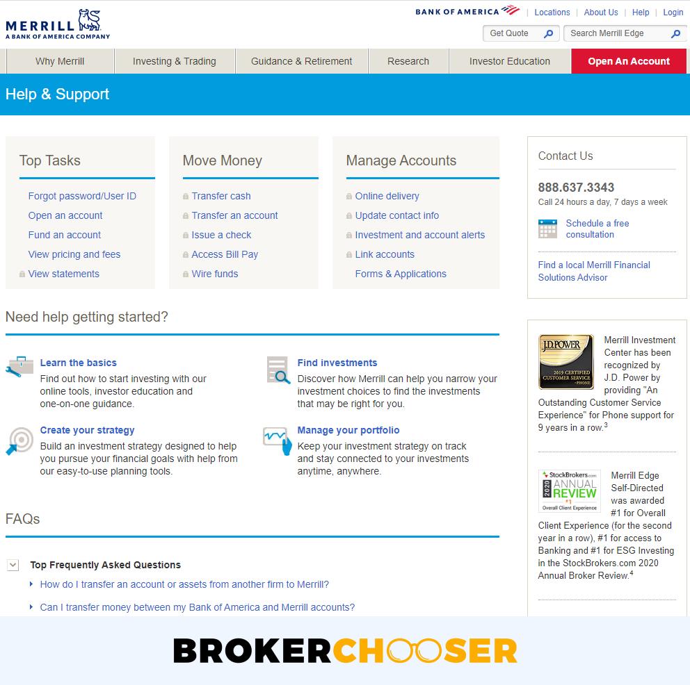Merrill Edge review - Customer Service