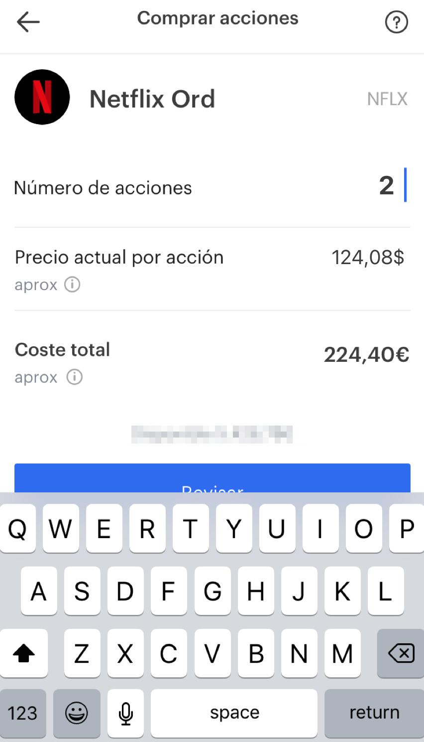 Ninety Nine review - Mobile trading platform - Order panel