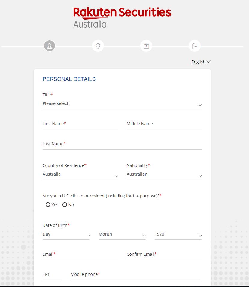 Rakuten Securities review - Account opening