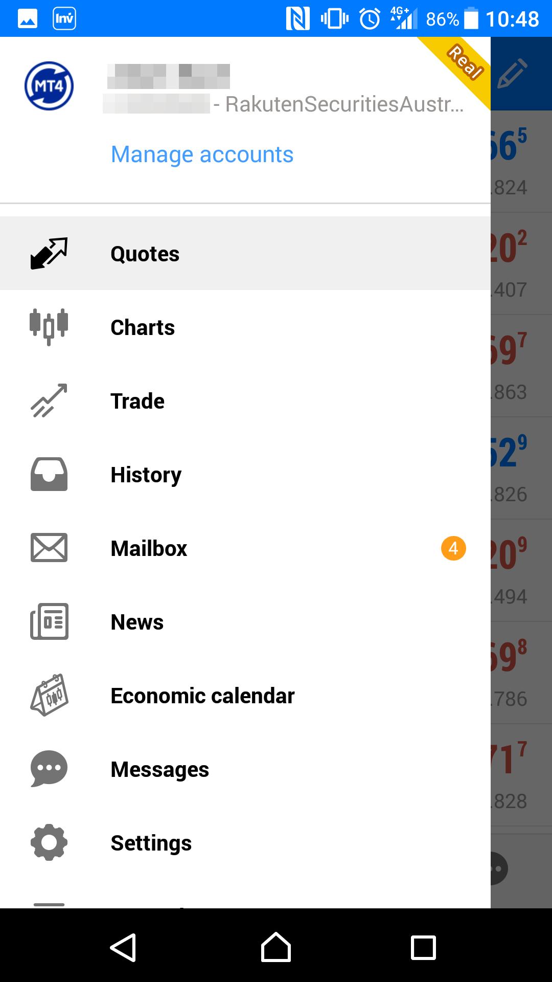 Rakuten Securities review - Mobile trading platform