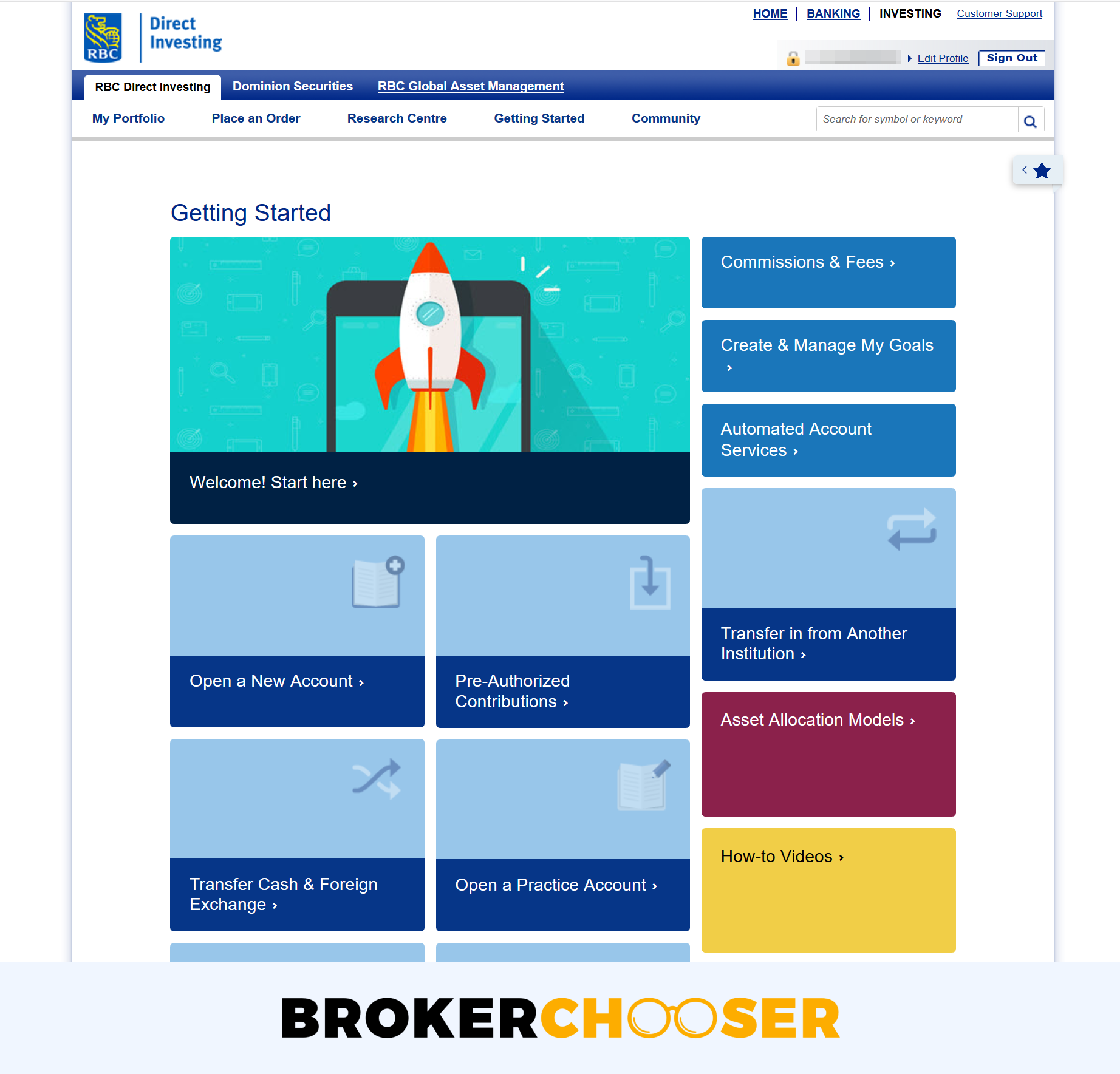 RBC Direct Investing review - Education