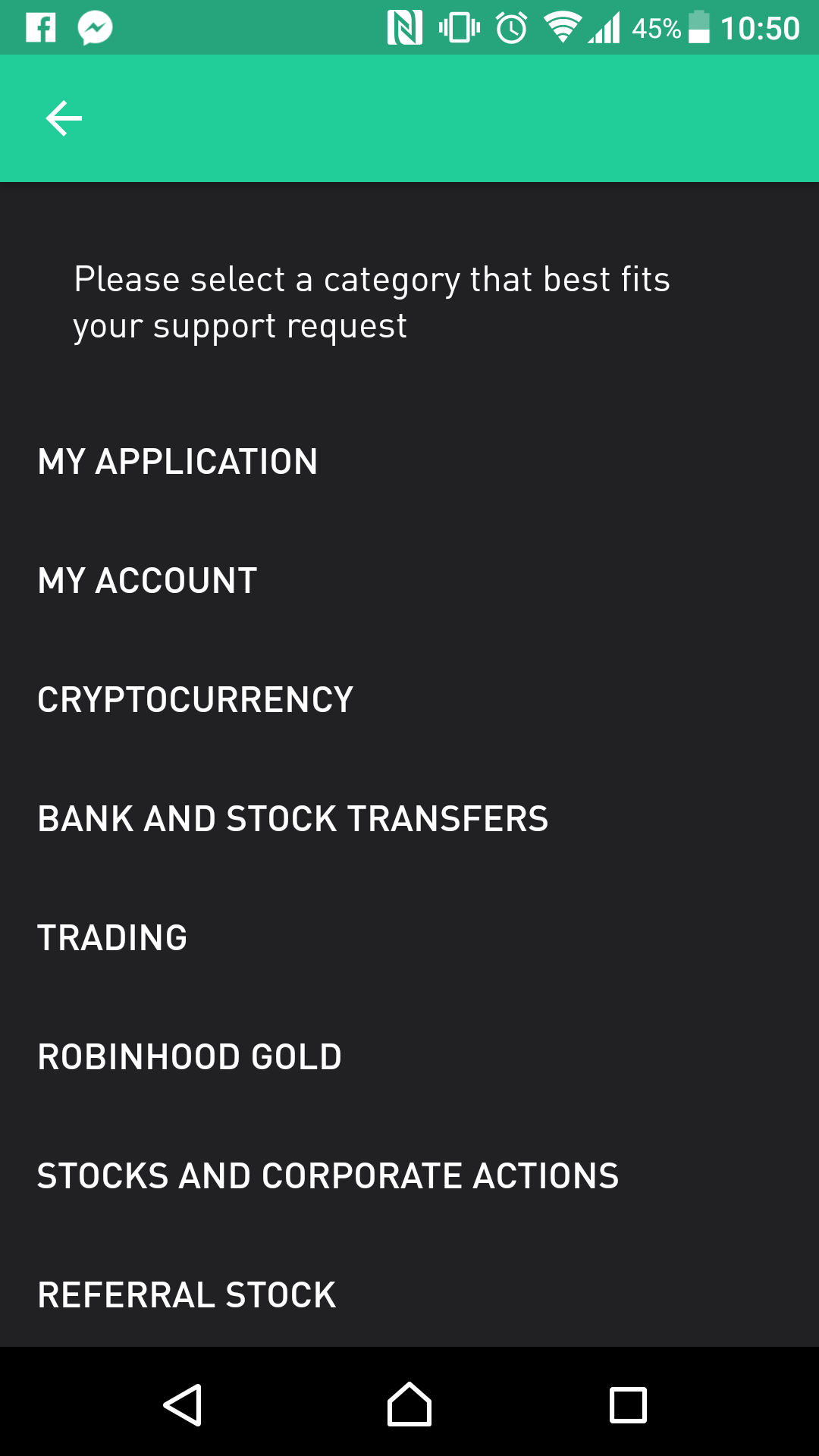 Robinhood review - Customer service - email
