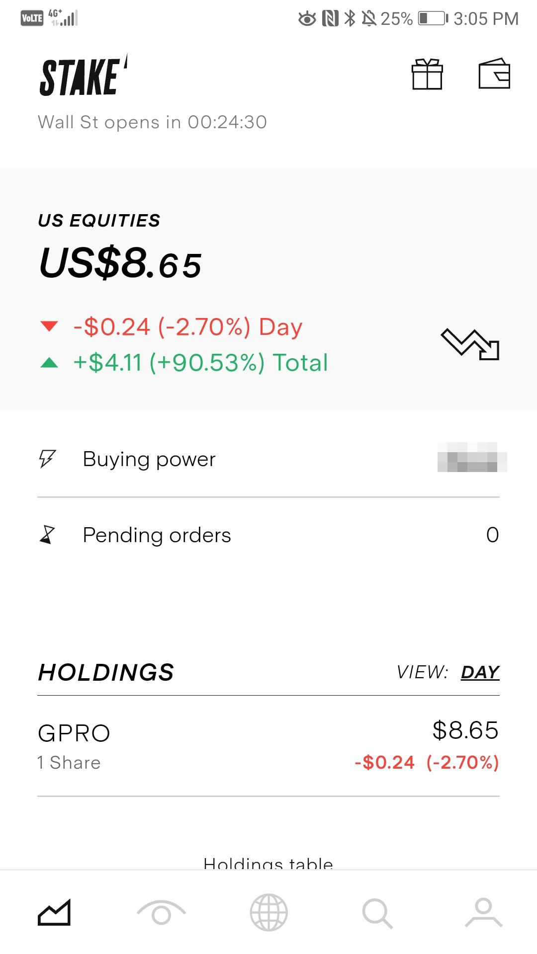 Stake review - Mobile trading platform