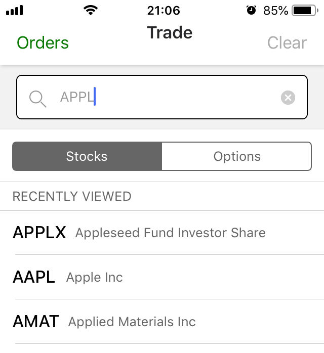 TD Ameritrade review - Mobile trading platform - Search