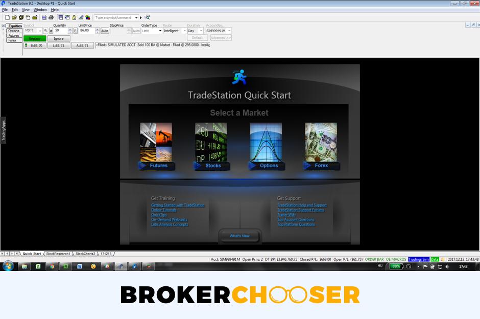 Tradestation Global review - Desktop trading platform