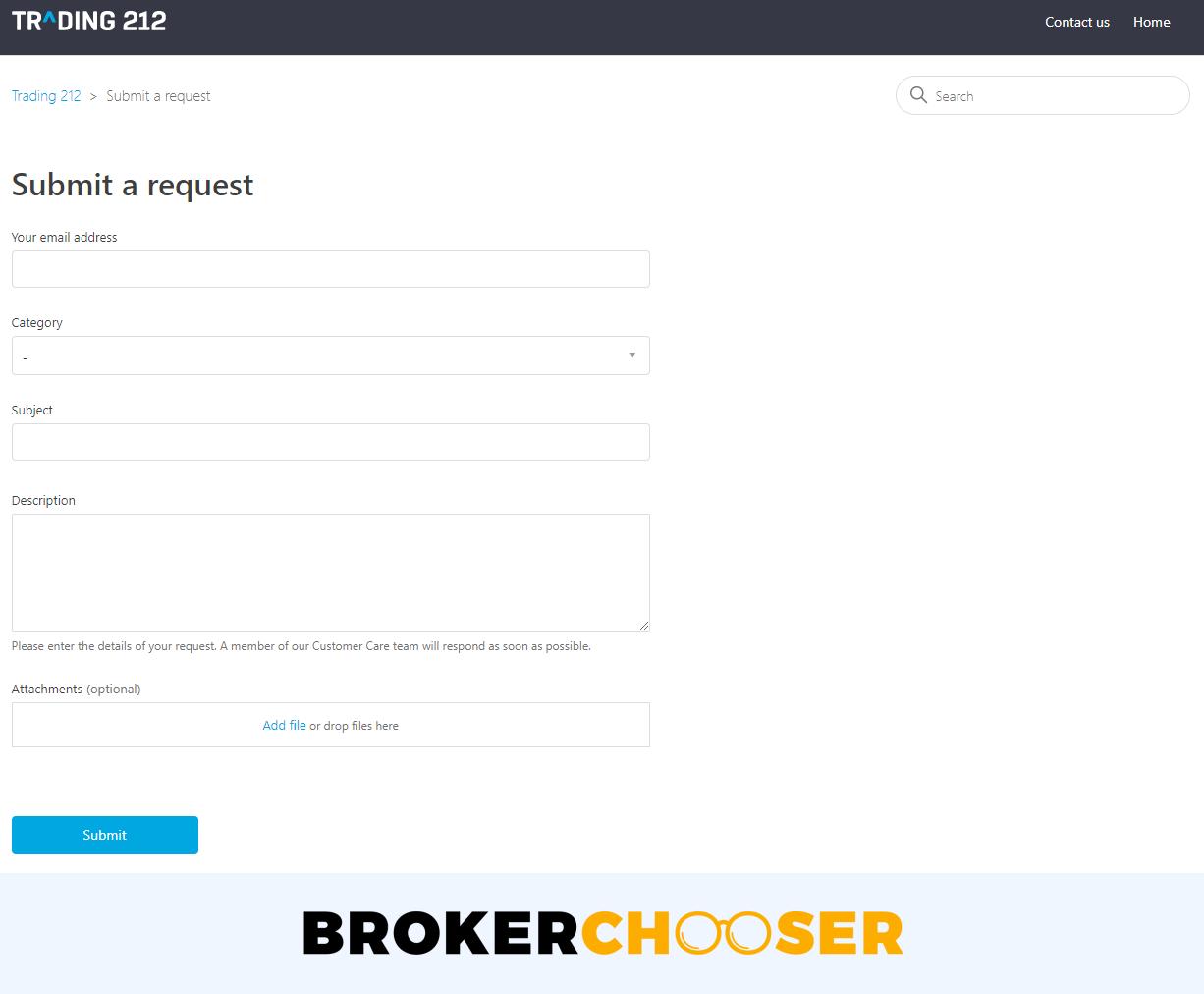 Recensione di Trading 212 - Servizio clienti