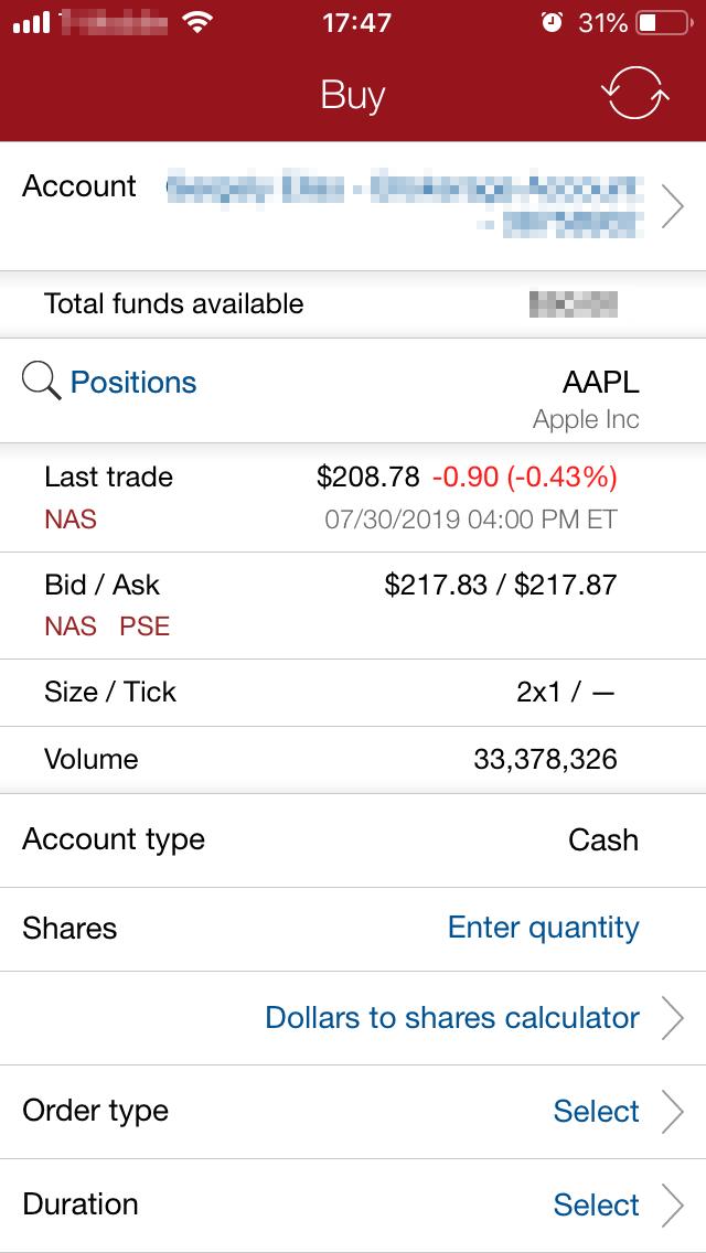 Vanguard review - Mobile trading platform