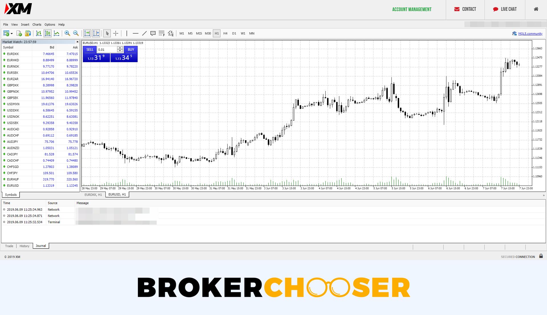 XM review - Web trading platform