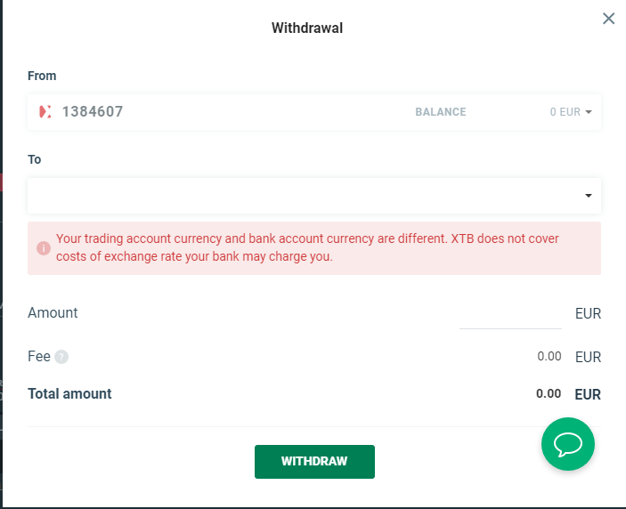XTB review - Deposit and withdrawal - Withdrawal