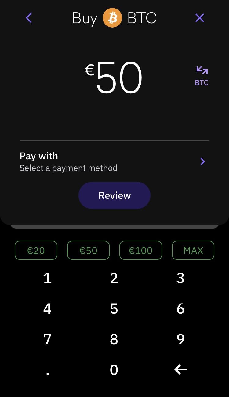 Kraken review - Mobile trading platform - Order panel