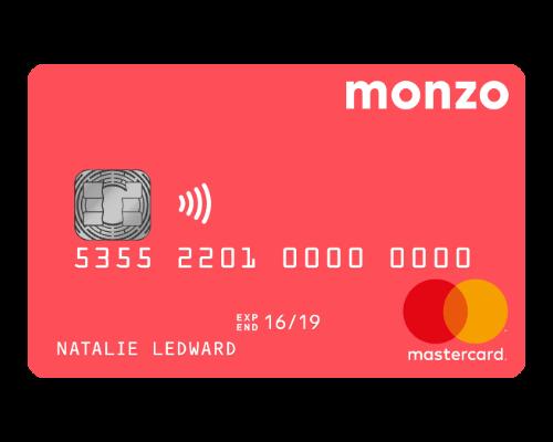 Monzo review - Monzo bank card sample