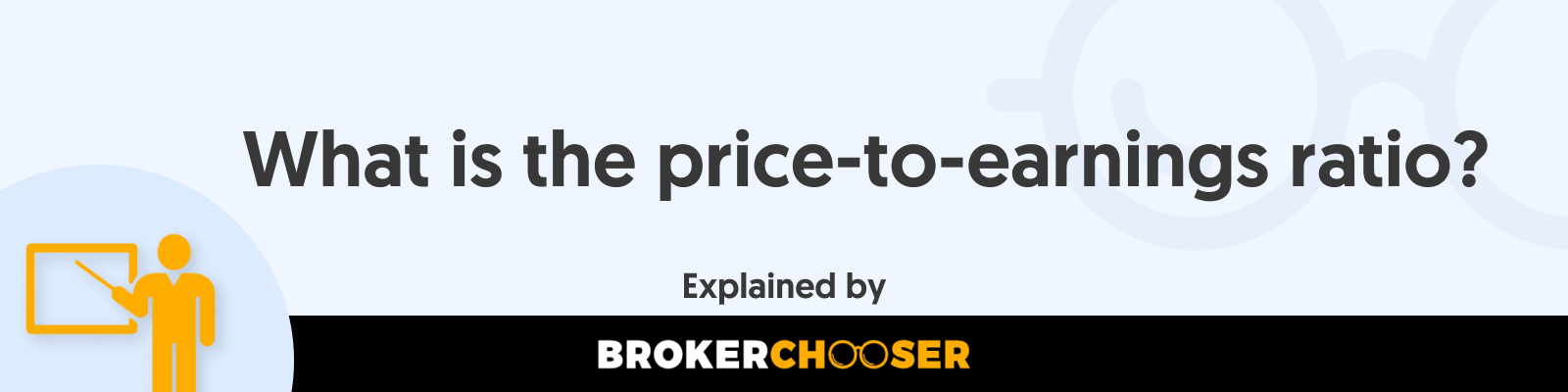 What is the price to earnings ratio?