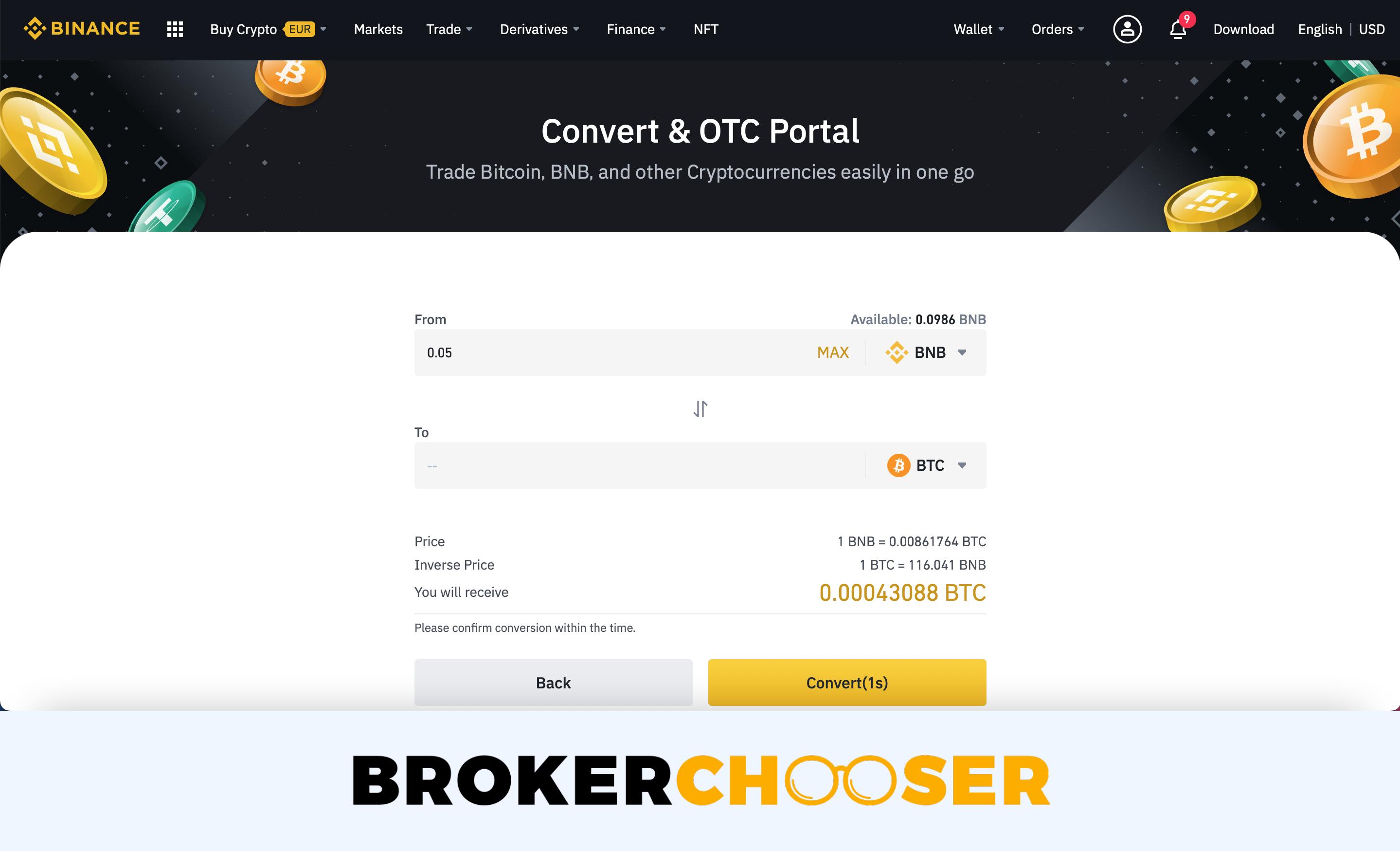 Binance review - Web trading platform - Base platform