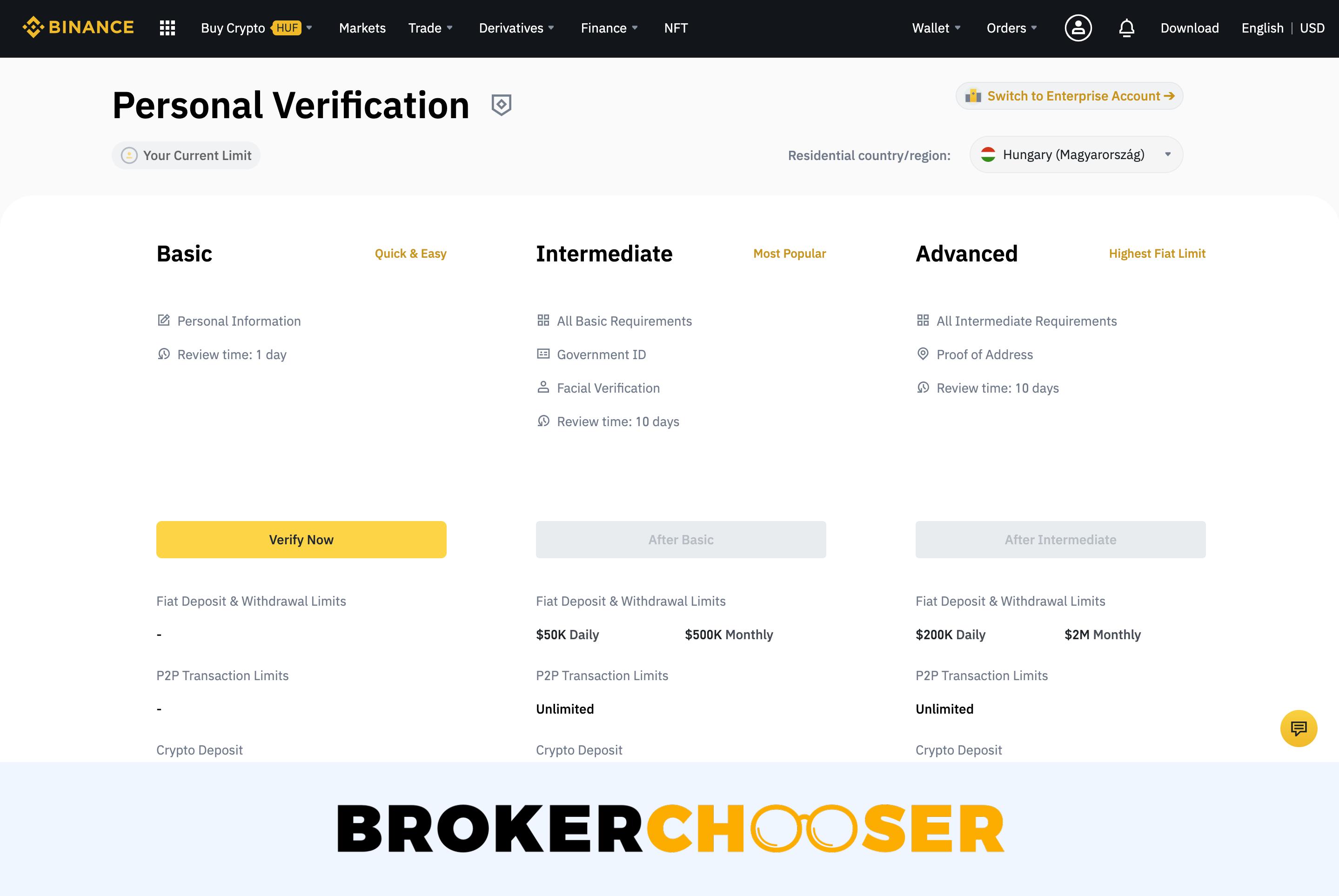 Binance review - Account verification