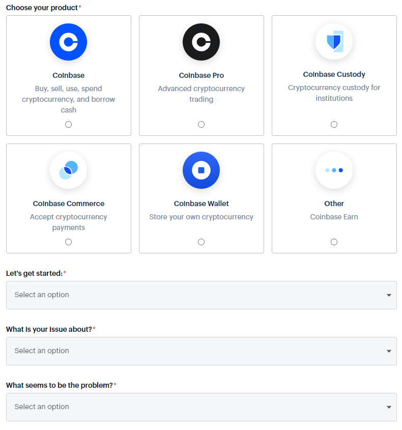 Coinbase review - Customer service