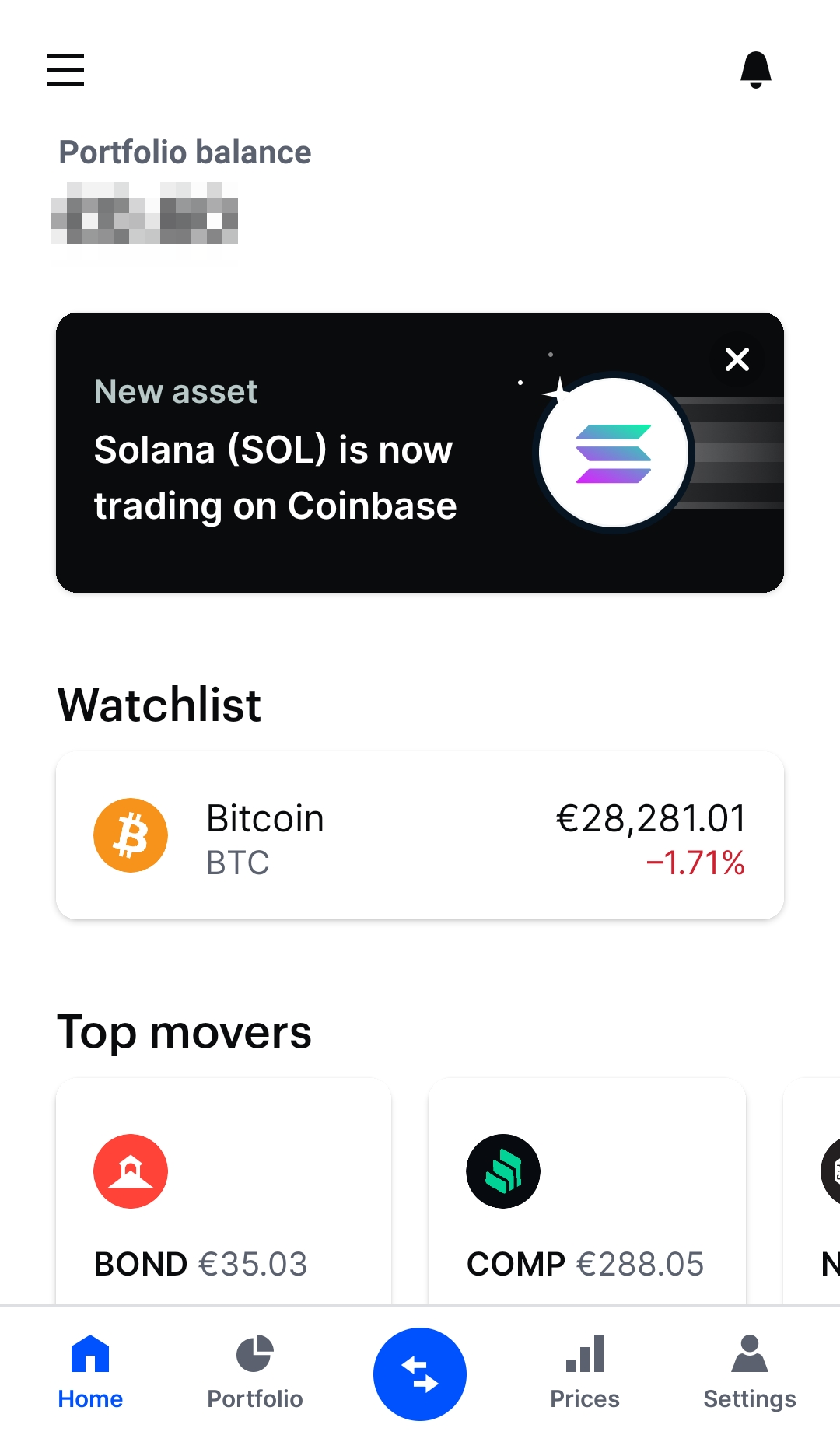Coinbase review - Mobile trading platform